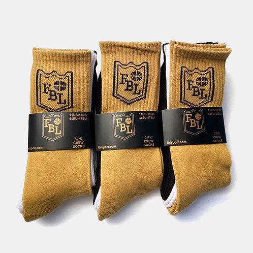FBL crew socks - 3 Pack