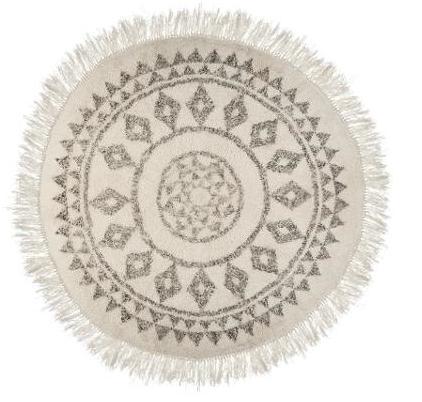 Etnik rond tapijt