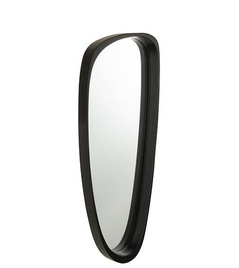 Spiegel giles mdf/glas zwart lang