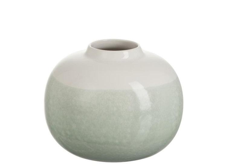 Vaas overgang keramiek wit/munt small