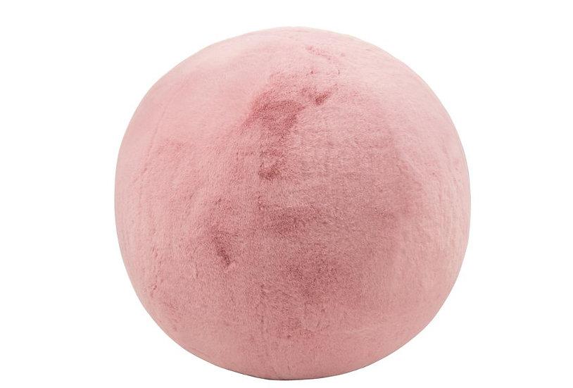 Poef cutie opblaasbaar acryl roze