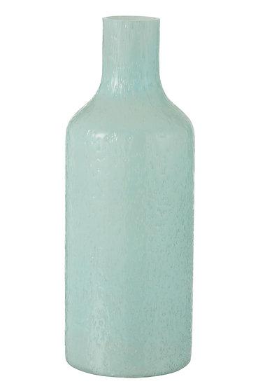 Vaas relief glas blauw