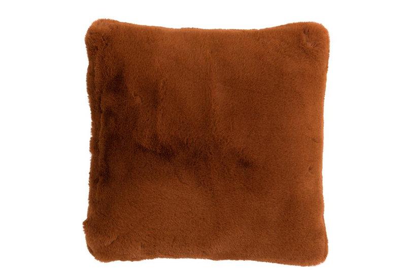 Kussen cutie polyester bruin/oranje