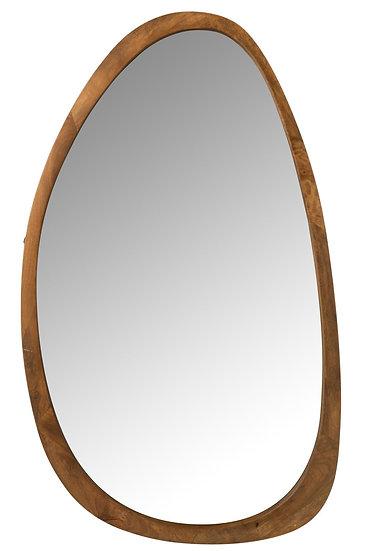 Spiegel vince onregelmatig mango hout bruin