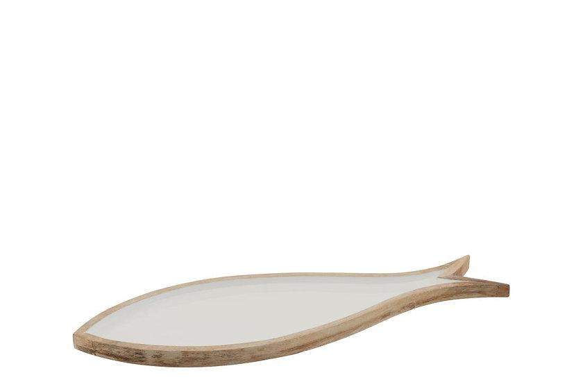 Schotel vis mango hout wit