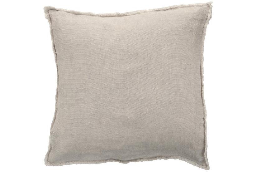 Kussen stonewashed linnen licht grijs
