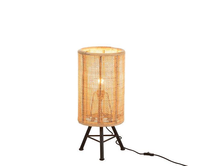 Tafellamp op voet ozara rotan naturel
