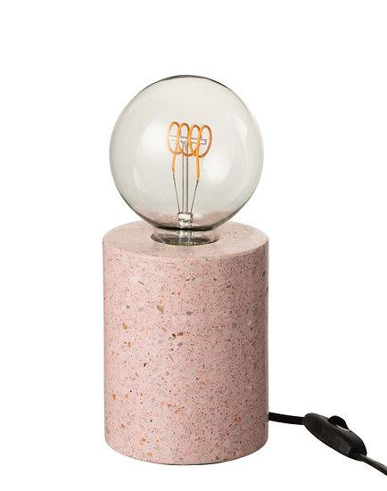Lamp voet terrazzo rond roze