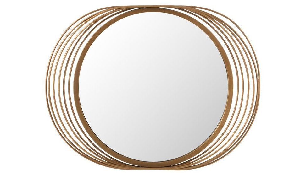 Spiegel ringen rond metaal/glas goud
