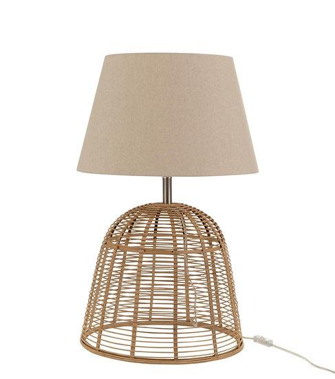 Lampvoet+kap spijlen bamboe naturel small