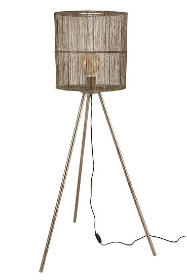 Staande lamp metaal antiek bruin large