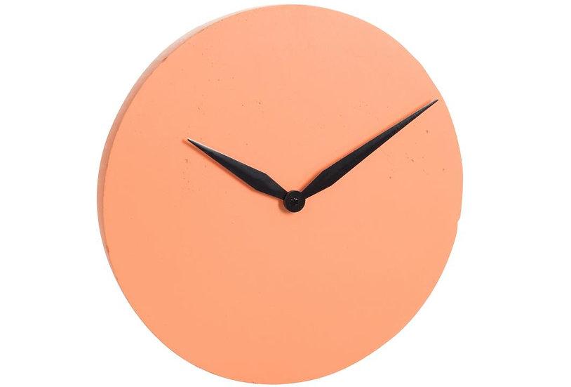 Klok modern cement oranje