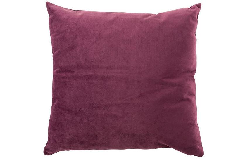 Kussen vierkant velours donker paars