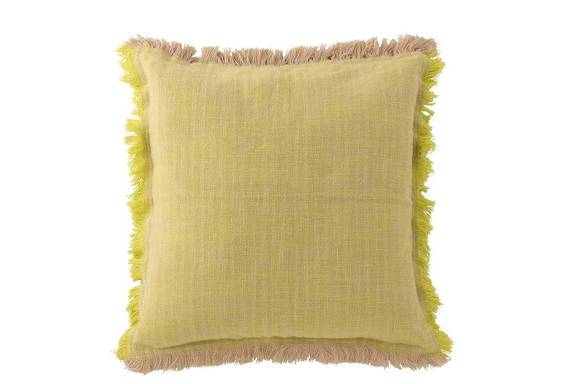 Kussen ibiza katoen geel/beige