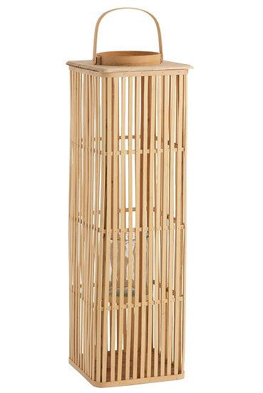 Lantaarn lang bamboe naturel