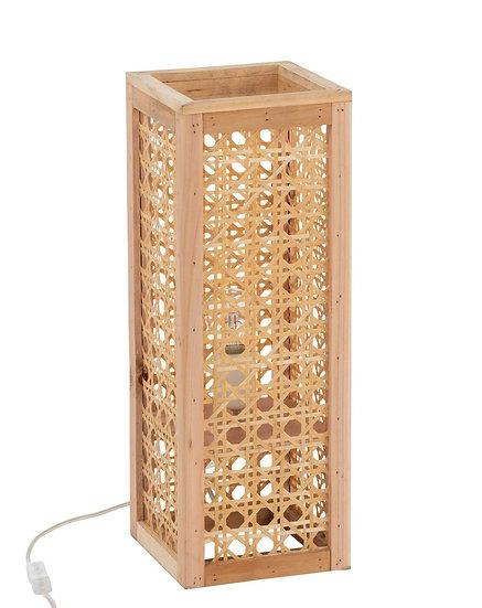Lamp rechthoek bamboe naturel small
