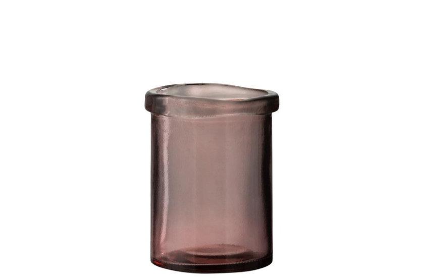 Vaas virginie glas roze small