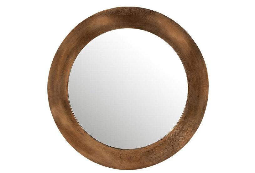 Spiegel rond aluminium roest