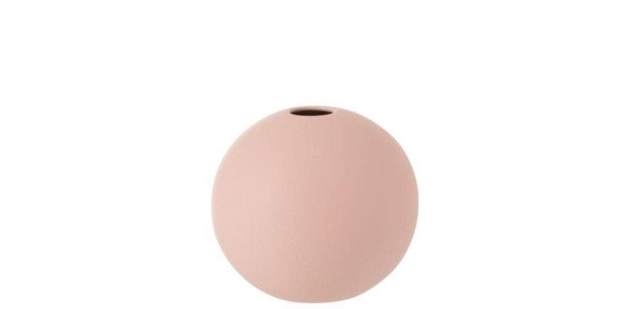 Vaas bol keramiek mat pastel roze small