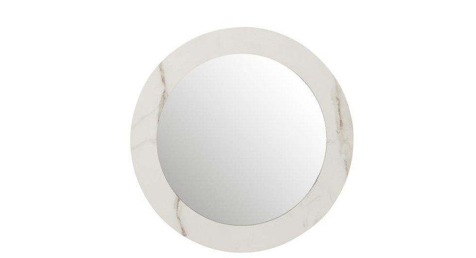 Spiegel marmer mdf/glas wit