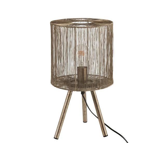 Tafellamp metaal antiek bruin small