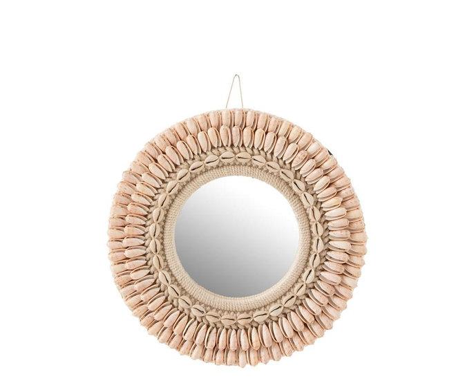Spiegel mona schelpen licht rose small