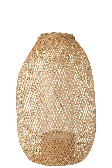 Lantaarn hazelaar bamboe naturel small