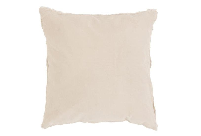 Kussen boord kort katoen/linnen wit