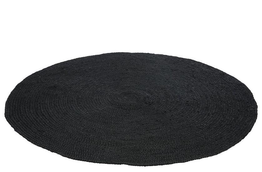 Tapijt rond jute zwart 150 CM