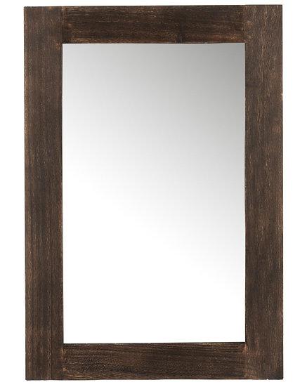 Spiegel rechthoek paulownia donkerbruin