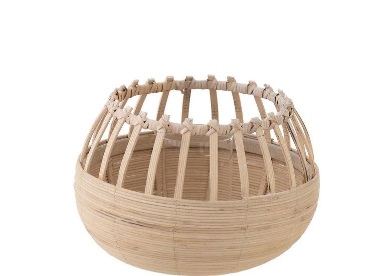 Windlicht bamboo naturel