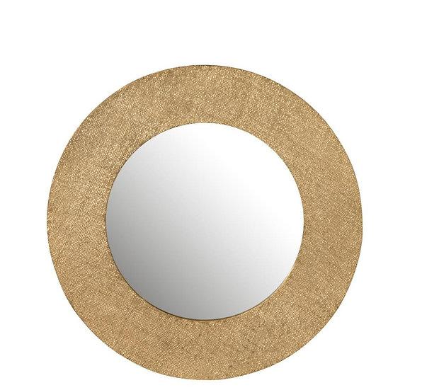 Spiegel jute textuur aluminium goud