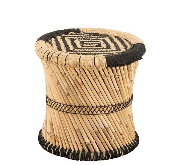 Stoel patroon bamboe natural/zwart