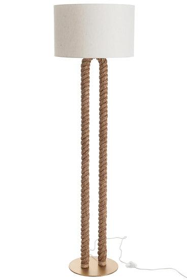 Lamp staand pilaar touw u-vorm jute naturel