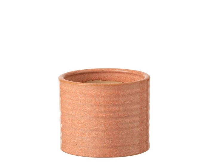 Bloempot effen rond keramiek pompelmoes small