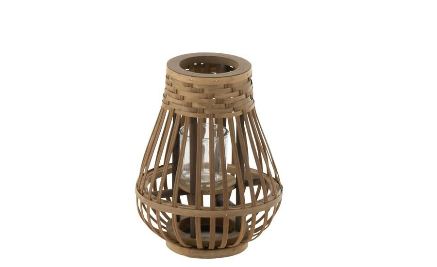 Windlicht boreas bamboe naturel