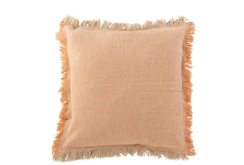 Kussen ibiza katoen oranje/roze