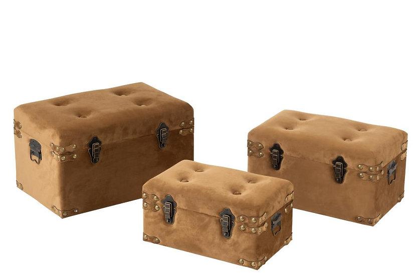 Set van 3 koffers velvet beige