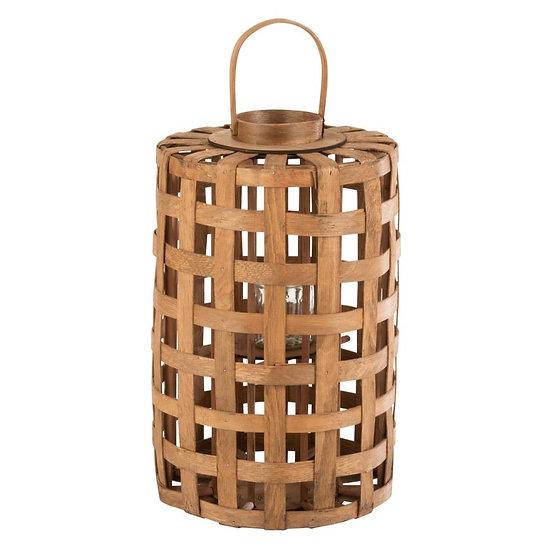 Lantaarn cylinder populier hout bruin
