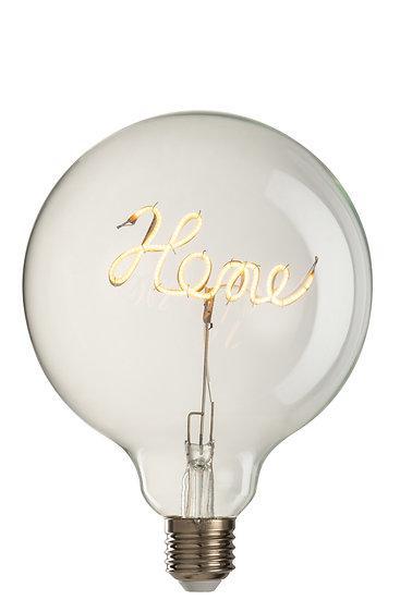 Ledlamp in doos home glas geel/transparant e27