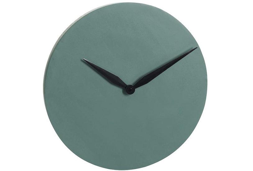 Klok modern cement donker groen