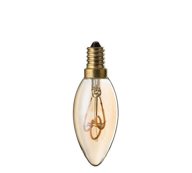 Ledlamp amber c35 3 loops e14
