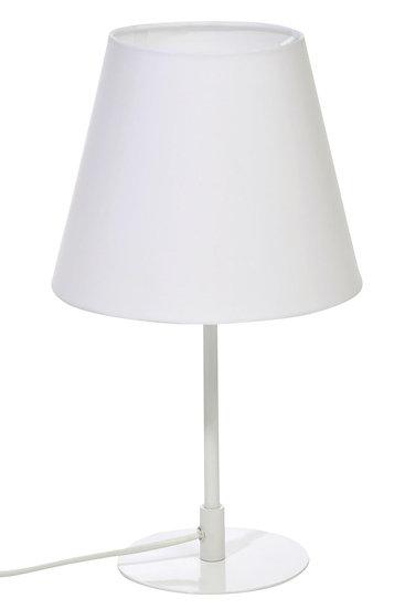 Tafellamp schuin metaal wit 23x39cm