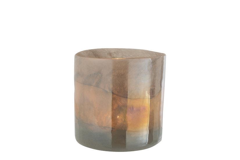 Vaas leo cilinder glas grijs