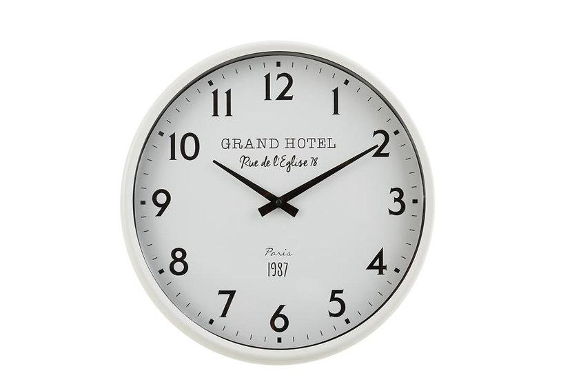 Klok grand hotel ijzer wit