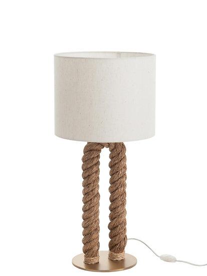 Tafellamp pilaar touw u-vorm jute naturel