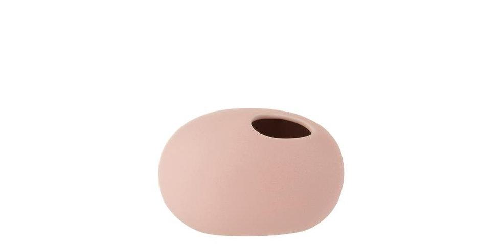 Vaas ovaal keramiek mat pastel roze small