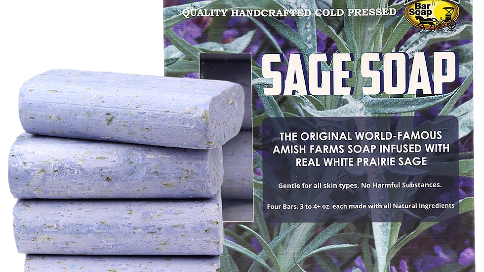 Four Bars of Sage Soap