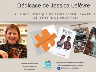 Dédicace avec Jessica Lefèvre, autrice régionale