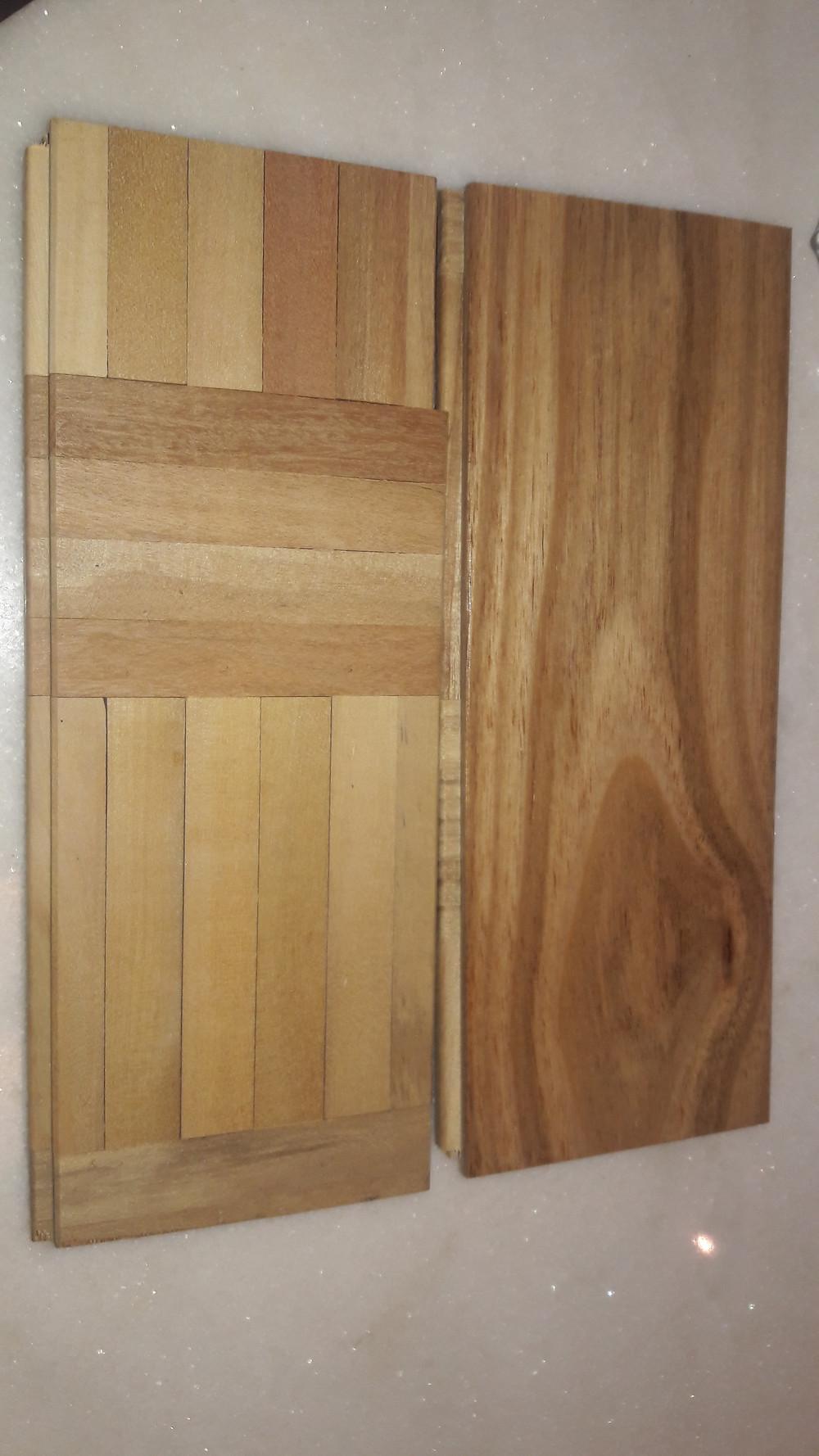 peça frente e verso, a parte de trás é confeccionada com as madeiras reaproveitadas do controle de qualidade.